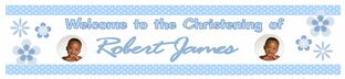 Personalised Boy Christening Banner Design 5